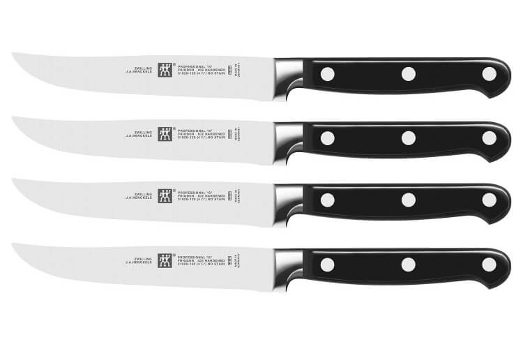 Couteaux steak zwilling forg s 4 exemplaires for Trousse couteaux cuisine professionnel