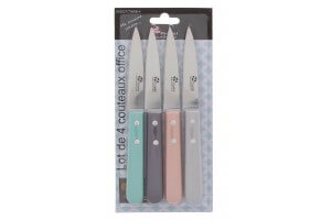 Set de 4 couteaux d'office Pradel Excellence coloris pastel