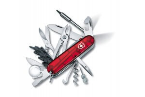 Couteau suisse Victorinox Cyber Tool Lite rouge translucide 91mm 34 fonctions