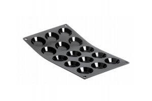 Moule silicone 15 mini tartelettes De Buyer Moul'flex