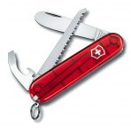 Couteau suisse 5 pièces My first Victorinox 2 Rouge translucide