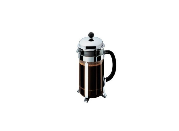 cafeti re bodum verre chambord piston filtre inox 1l. Black Bedroom Furniture Sets. Home Design Ideas